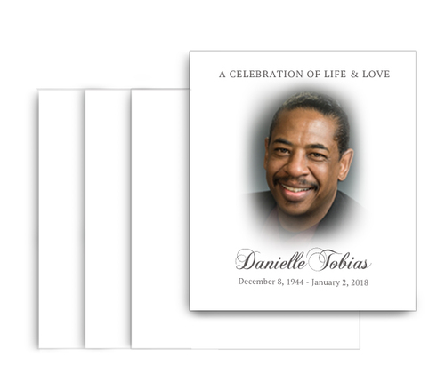 Classic No Fold Memorial Card Design & Print (Pack of 25)