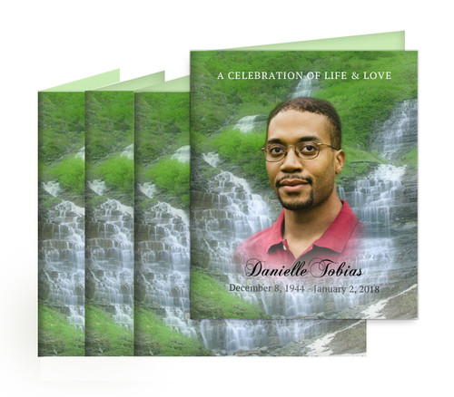 Majestic Small Folded Memorial Card Design & Print (Pack of 25)