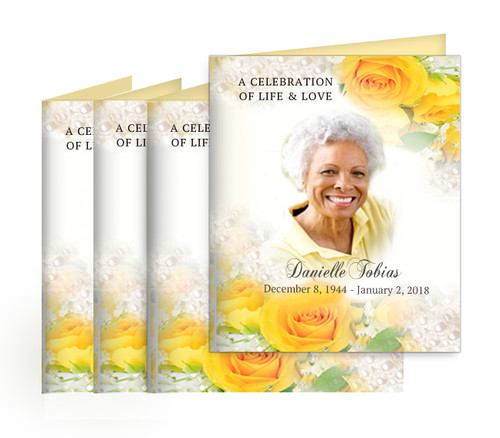 Joyful Small Folded Memorial Card Design & Print (Pack of 25)