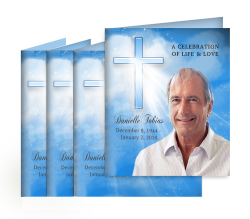 Heaven Small Folded Memorial Card Design & Print (Pack of 25)
