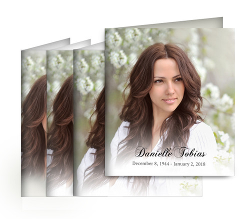 Your Photo Small Folded Memorial Card Design & Print (Pack of 25)