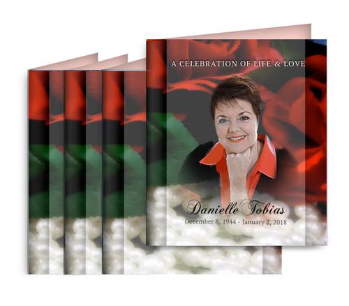 Elegance Small Folded Memorial Card Design & Print (Pack of 25)