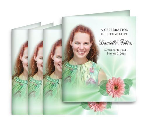 Blossom Small Folded Memorial Card Design & Print (Pack of 25)