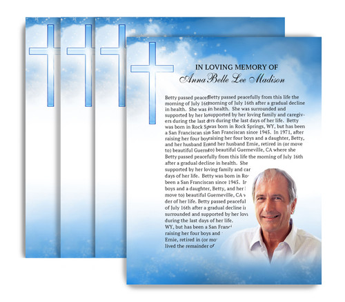 Heaven No Fold Funeral Flyer Design & Print (Pack of 25)