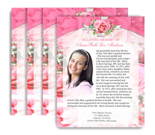 Precious No Fold Funeral Flyer Design & Print (Pack of 25)