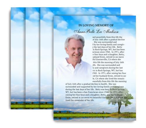 Treasure No Fold Funeral Flyer Design & Print