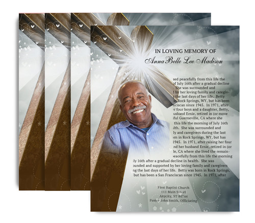 Eternal No Fold Funeral Flyer Design & Print (Pack of 25)