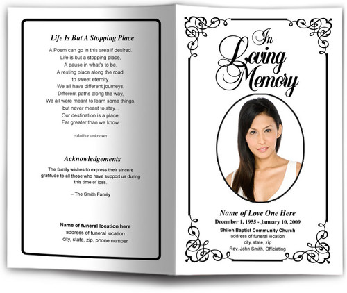 Cadence Funeral Program Template