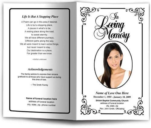 Cadence Funeral Program Template