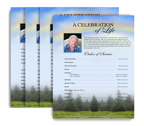 You Design It No Fold Funeral Flyer Printing Service (Pack of 25)
