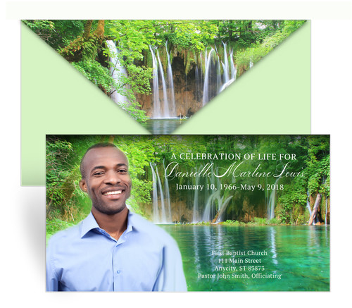 Waterfall Envelope Fold Funeral Program Design & Print (Pack of 25)