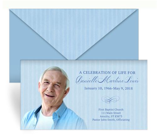 Stripes Envelope Fold Funeral Program Design & Print (Pack of 50)