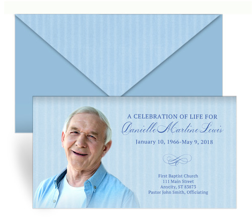 Vertical Stripes Envelope Fold Funeral Program Design & Print