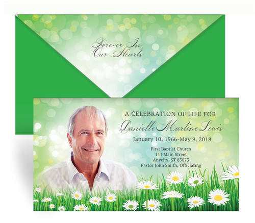 Daisy Delight Envelope Fold Funeral Program Design & Print