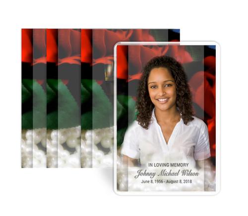 Elegance Funeral Prayer Card Design & Print (Pack of 25)