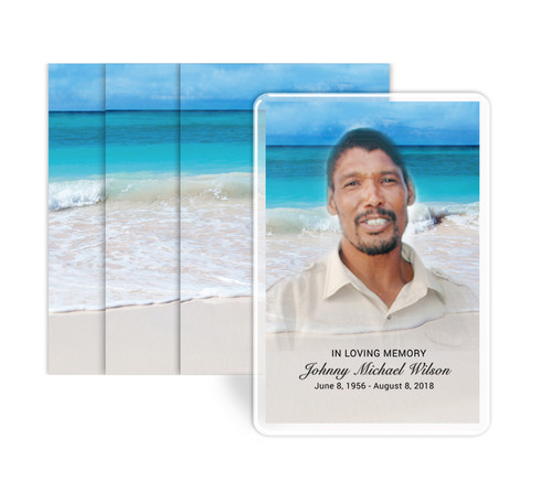 Caribbean Funeral Prayer Card Design & Print (Pack of 25)