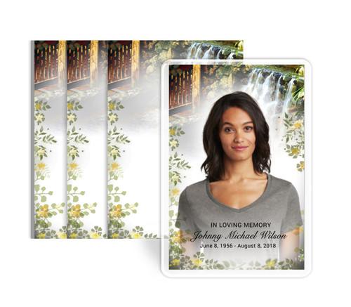 Serene Funeral Prayer Card Design & Print (Pack of 25)