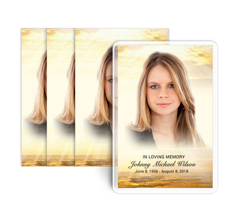 Shine Funeral Prayer Card Design & Print (Pack of 25)