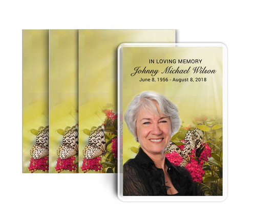 Bouquet Funeral Prayer Card Design & Print (Pack of 25)