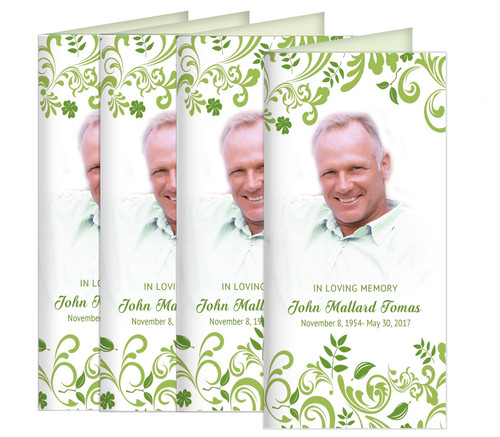 Tropicana Long Fold Funeral Program Design & Print (Pack of 25)