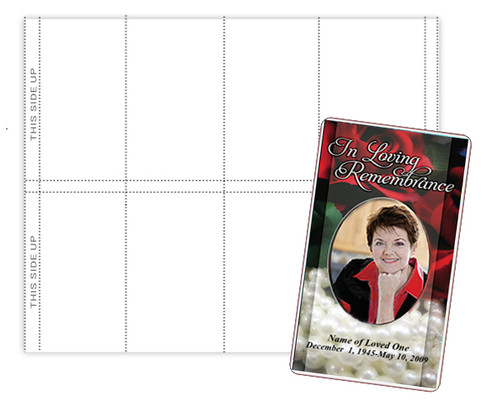 Prayer Card Perforated Paper Sheet (Pack of 3)