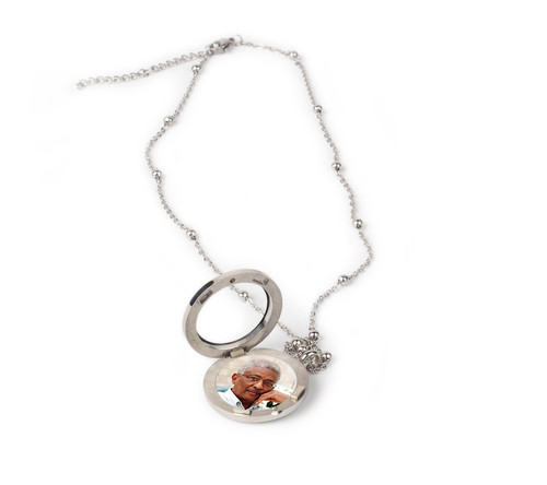 Stainless Steel In Loving Memory Locket With Chain