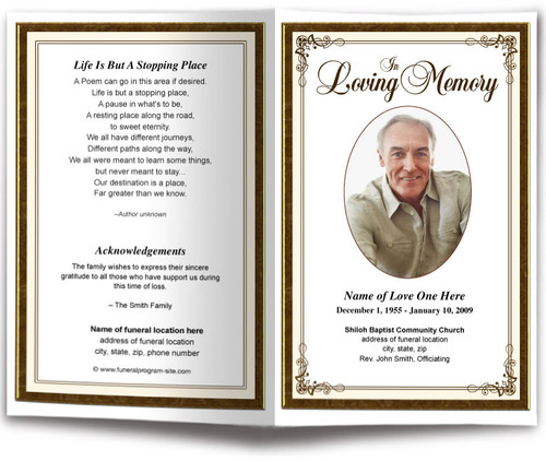 Creative Funeral Program Template (6 Colors)