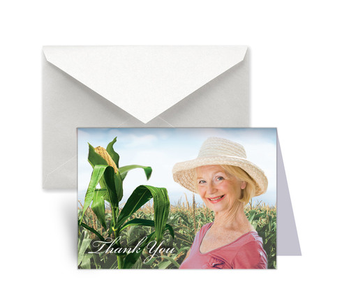 Cornfield Funeral Thank You Card Design & Print (Pack of 25)