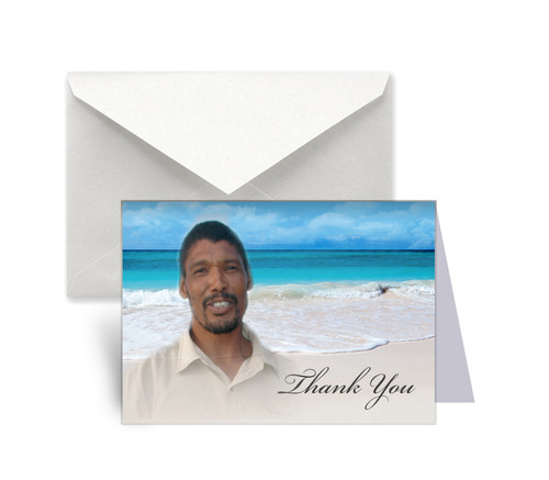 Caribbean Funeral Thank You Card Design & Print (Pack of 25)