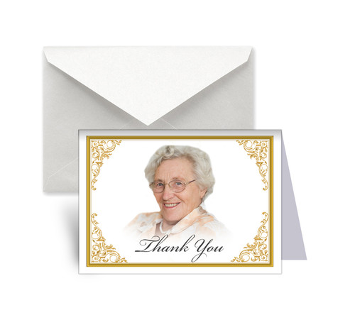 Tribute Funeral Thank You Card Design & Print (Pack of 25)