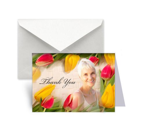 Tulips Thank You Card Design & Print
