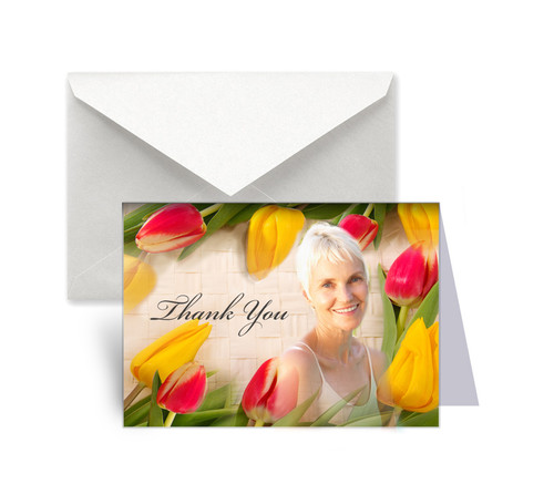 Tulips Funeral Thank You Card Design & Print (Pack of 25)