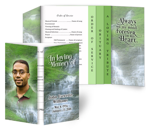 Cascade Gatefold/Graduated Combo Funeral Program Design & Print (Pack of 25)