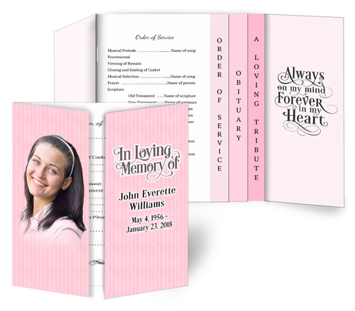 Vertical Gatefold/Graduated Combo Funeral Program Design & Print (Pack of 25)