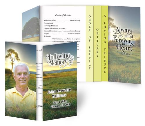Sunset Breeze Funeral Gatefold/Graduated Combo Design & Print