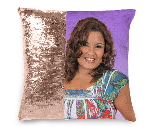 Gradient Memorial Magic Swipe Reversible Mermaid Sequin Pillow