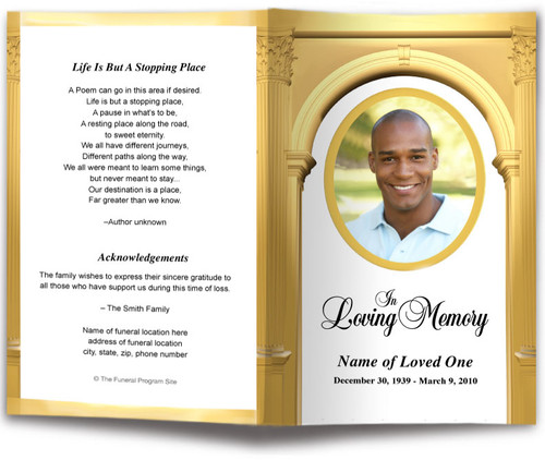 Kingdom Funeral Program Template