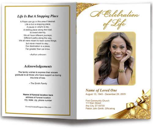 Royalty Funeral Program Template