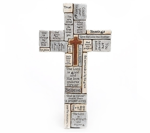 Words and Sayings Comfort Wall Cross