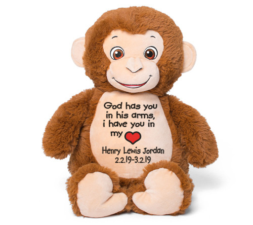 Smiles Monkey Memorial Stuffed Animal/Urn