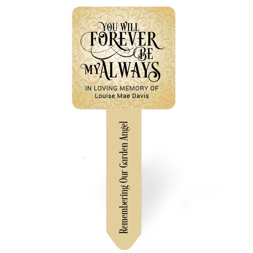 Golden Flourish Personalized Memorial Garden Plant Stake