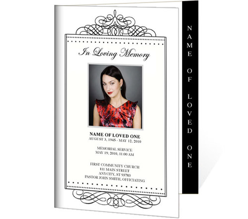 Accent 4-Sided Graduated Funeral Program Template