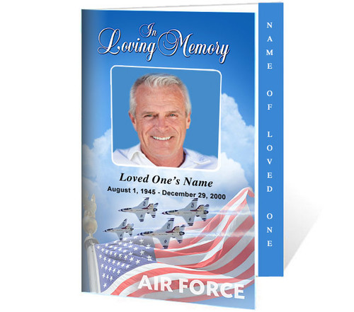 Air Force 4-Sided Graduated Funeral Program Template