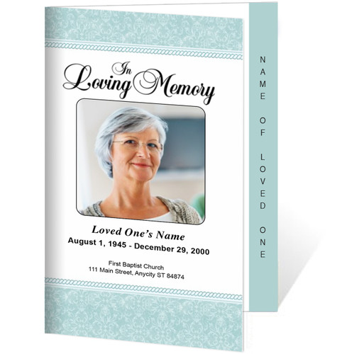Alexa 4-Sided Graduated Funeral Program Template
