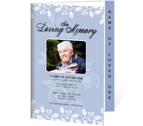 Allegro 4-Sided Graduated Funeral Program Template (Changeable Color)