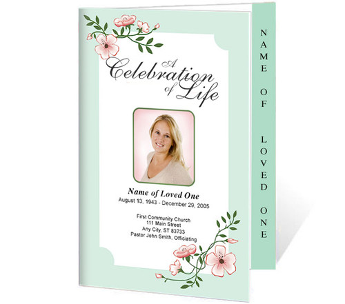 Allison 4-Sided Graduated Funeral Program Template