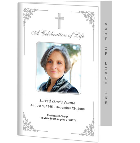Charming 4-Sided Graduated Funeral Program Template