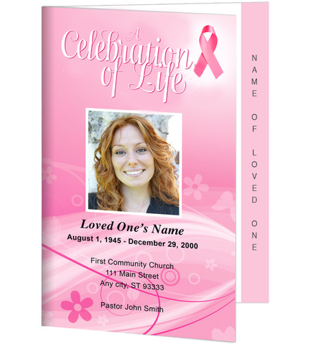 Awareness 4-Sided Graduated Funeral Program Template
