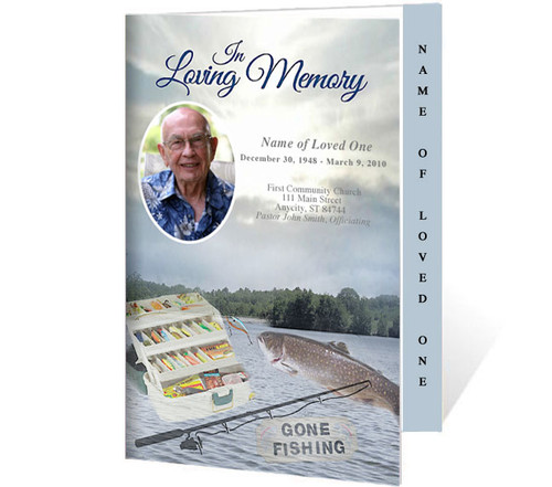 Angler 4-Sided Graduated Funeral Program Template