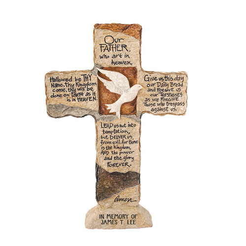 Personalized Dove Memorial Cross